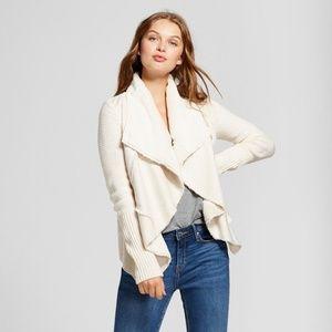 Womens Tan Sherpa Sweater Jacket